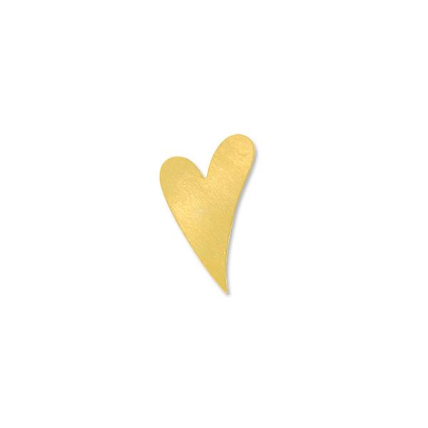 Brass Heart 24 Gauge Blank 1-1/2