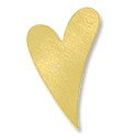 Brass Heart 24 Gauge Blank 1-1/2