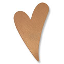 Copper Heart 24 Gauge Blank 1-3/4