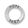 Connector Hope Message Ring 22mm Sterling Silver (1-Pc)