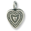 Heart Charm - 11mm Sterling Silver (1-Pc)