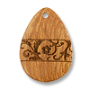 Bayong Teardrop Engraved Pendant 28x40mm
