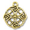 Pendant | Celtic Filigree Quatrefoil 23mm Pewter A.G.P.
