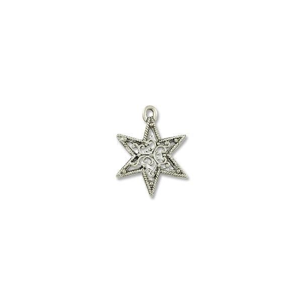 22mm antique silver plated filigree star pewter pendant wholesale 22mm antique silver plated filigree star pewter pendant aloadofball Choice Image