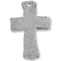 48x33mm Antique Silver Plated Cross Pewter Pendant