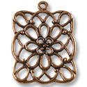 40x35mm Antique Copper Plated Pewter Pendant