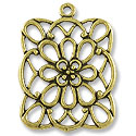 40x35mm Antique Brass Plated Pewter Pendant