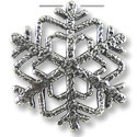 32x33mm Antique Silver Plated Snow Flake Pewter Pendant