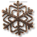 Snow Flake Pewter Pendant 32x33mm Antique Copper Plated (6-Pcs)
