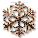32x33mm Rose Gold Plated Snow Flake Pewter Pendant
