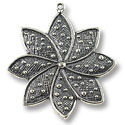 33x37mm Antique Silver Plated Pewter Pendant