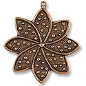 33x37mm Antique Copper Plated Pewter Pendant