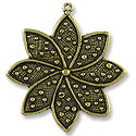 33x37mm Antique Brass Plated Pewter Pendant