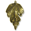 40x34mm Antique Brass Plated Pewter Pendant