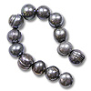 10 Strands of Freshwater Potato Pearl Peacock Grey 8-9mm (16
