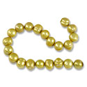 10 Strands of Freshwater Potato Pearl Gold 8-9mm (16