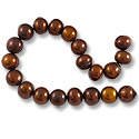 10 Strands of Freshwater Potato Pearl Dark Antique Copper Mix 9-10mm (16