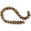 10 Strands of Freshwater Potato Pearl Antique Satin Gold 8-9mm (16