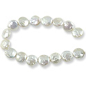 Freshwater Coin Pearls White 12-13mm (16