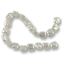 Freshwater Coin Pearls Chunky Square White 10-12mm (16