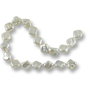 Freshwater Coin Pearls Chunky Diamond White 12-14mm (16