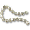Freshwater Coin Pearl Baroque White 11-12mm (16