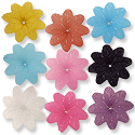 Resin 8 Petal Flower Beads 38mm Assorted Colors (1 ounce bag)