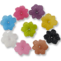 Resin Surfer Flower Beads 26mm Assorted Colors (1 ounce bag)