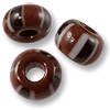 Chevron Beads Brown 6x4mm (10-Pcs)
