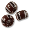 Chevron Beads Dark Brown 7x5mm (10-Pcs)