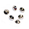 Rondelle Cone Beads 4.75x3.5mm Sterling Silver (4-Pcs)