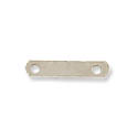 2-Hole Space Bar Silver Color 8mm (10-Pcs)