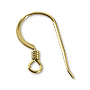 Gold Filled Flat Fish Hook Ear Wire with Spring (1-Pc)