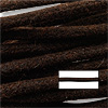 Su-Preme Waxed Cotton Cord Brown 1mm (5 Meters)