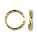 5mm Gold Plated Split Ring (10-Pcs)
