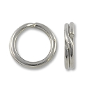 5mm Silver Color Split Ring (10-Pcs)
