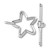 Toggle Clasp Star 25x19mm Sterling Silver (Set)