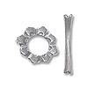 Flower Petal Toggle Clasp 12mm Sterling Silver (Set)