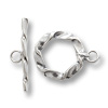 Twisted Wire Toggle Clasp 14mm Sterling Silver (Set)