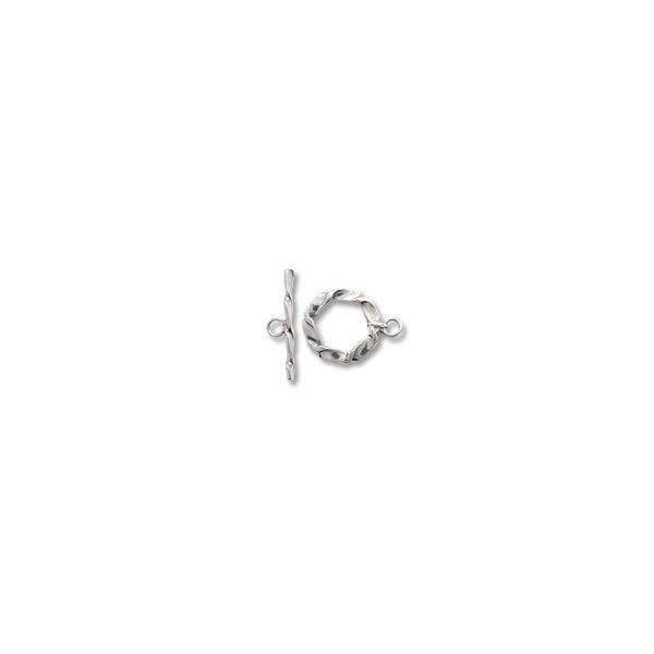 Twisted Wire Toggle Clasp 14mm Sterling Silver (Set) | jewelry cord ...