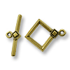 TierraCast Toggle Clasp - Deco Diamond 22x18mm Pewter Gold Plated (Set)
