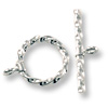 Twisted Wire Toggle Clasp 11mm Sterling Silver (Set)
