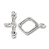 Square Toggle Clasp 14mm Sterling Silver (Set)