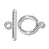 Scroll Pattern Toggle Clasp 14mm Sterling Silver (Set)