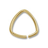 7mm Gold Plated Triangle Open Jump Ring (10-Pcs)