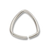7mm Silver Plated Triangle Open Jump Ring (10-Pcs)