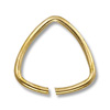 10mm Gold Color Triangle Open Jump Ring (10-Pcs)