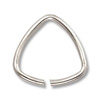 10mm Silver Plated Triangle Open Jump Ring (10-Pcs)