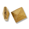 Bayong Wood Pyramid Square Bead 15mm Brown (1-Pc)
