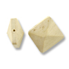 Panto Wood Pyramid Square Bead 15mm Brown (1-Pc)